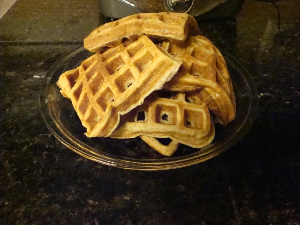 Ricotta Waffles & Blueberry Syrup