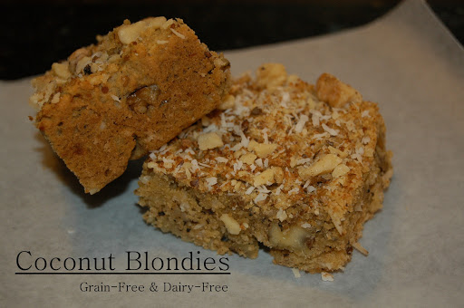 Dairy-Free Coconut Blondies (& Guest Post for The Paleo Mama)
