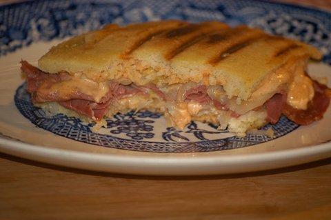 Best Reuben Sandwich (w/ homemade Russian sauce on Grain-Free Bread)
