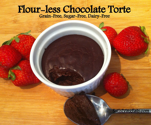 Flour-less Chocolate Torte (Nut-Free, Grain-Free, Sugar-Free, Dairy-Free)