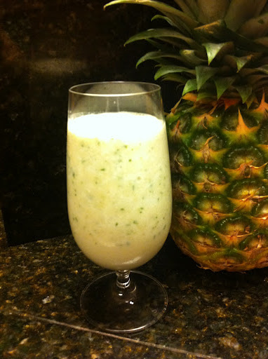 Pineapple-Basil Smoothie