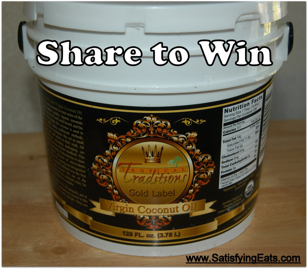 Win One Gallon of Virgin Coconut Oil!!