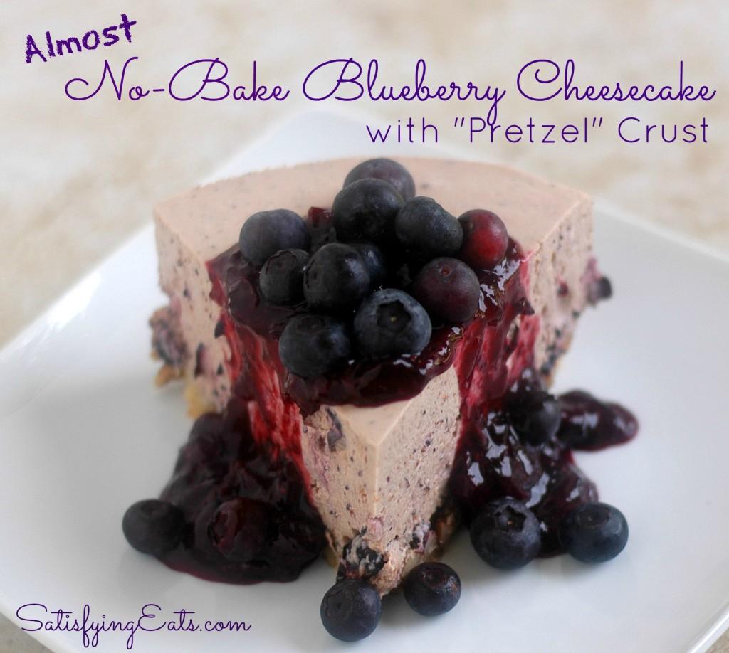 Blueberry Cheesecake Pretzel Crust