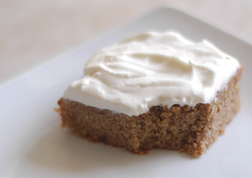 Ginger Spice Cake with Cream Cheese Frosting