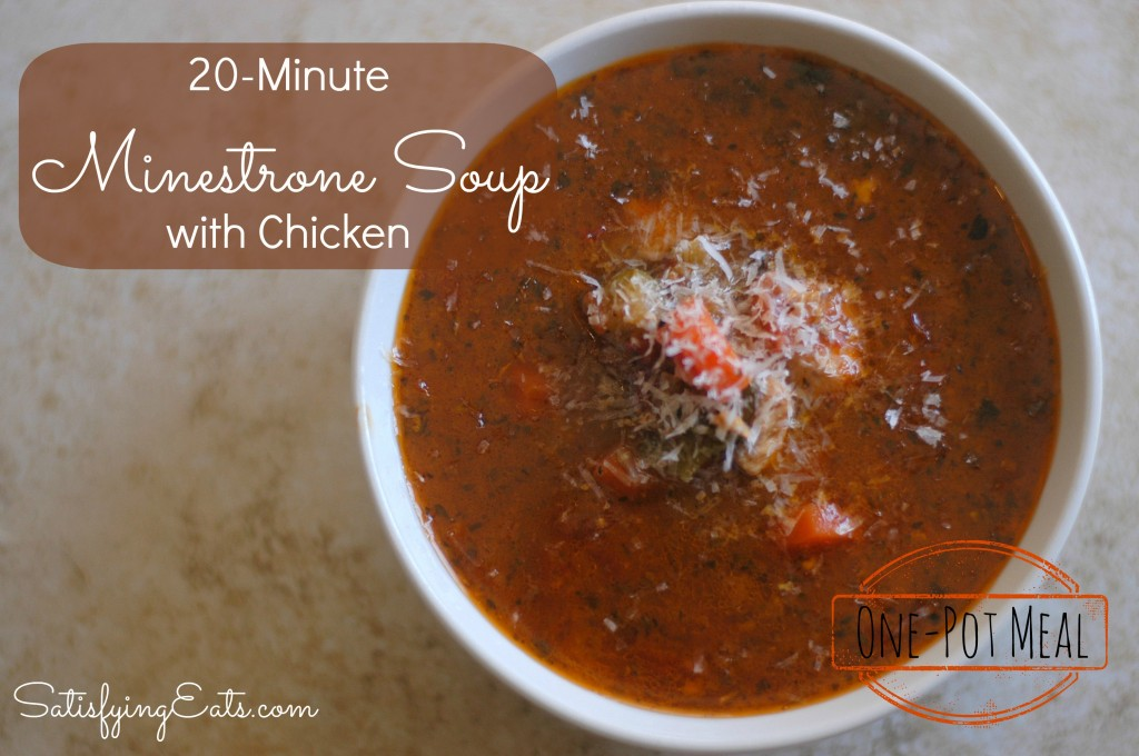 20-Minute Minestrone Soup with Chicken