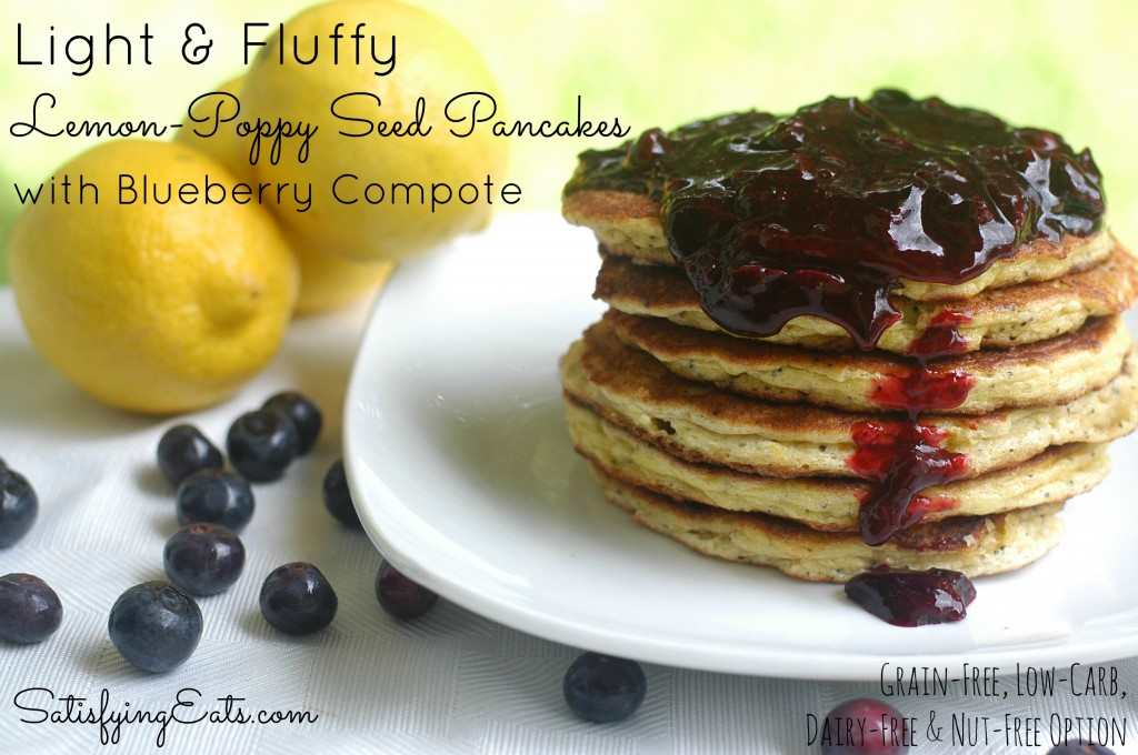 Light and Fluffy Lemon-Poppy Seed Pancakes