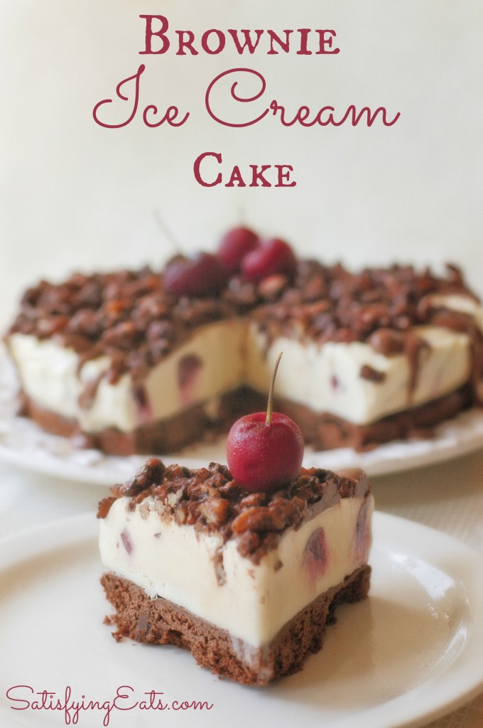 Brownies Ice Cream Cake Red