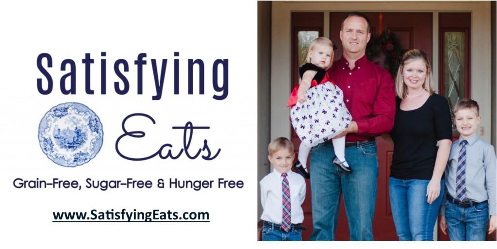 Satisfying Eats logo with image